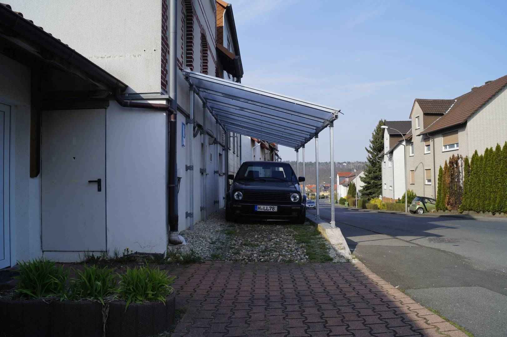 April 2018 bau eines carports f r den edition one for Aufbau carport